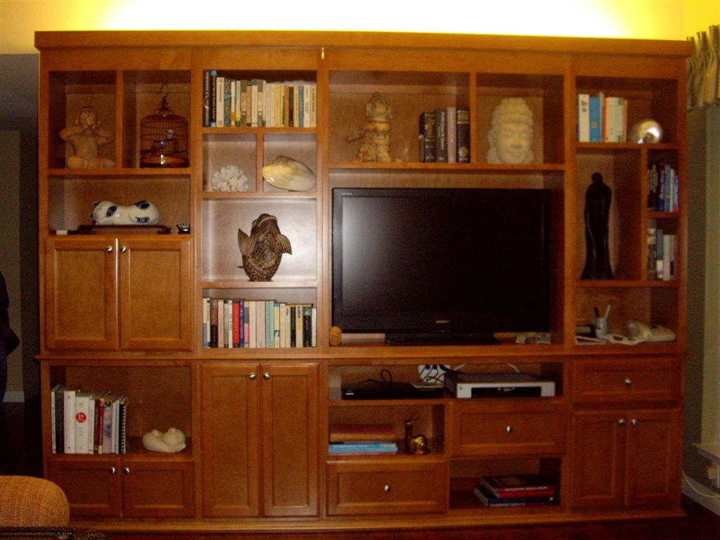 custom built in wall unit in southern california