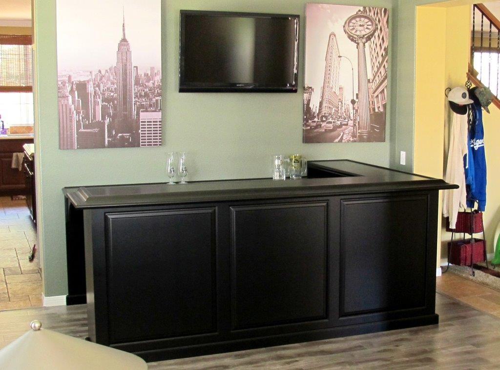 Maple Cabinet Home Bar. Espresso Stain. Corona Calif.