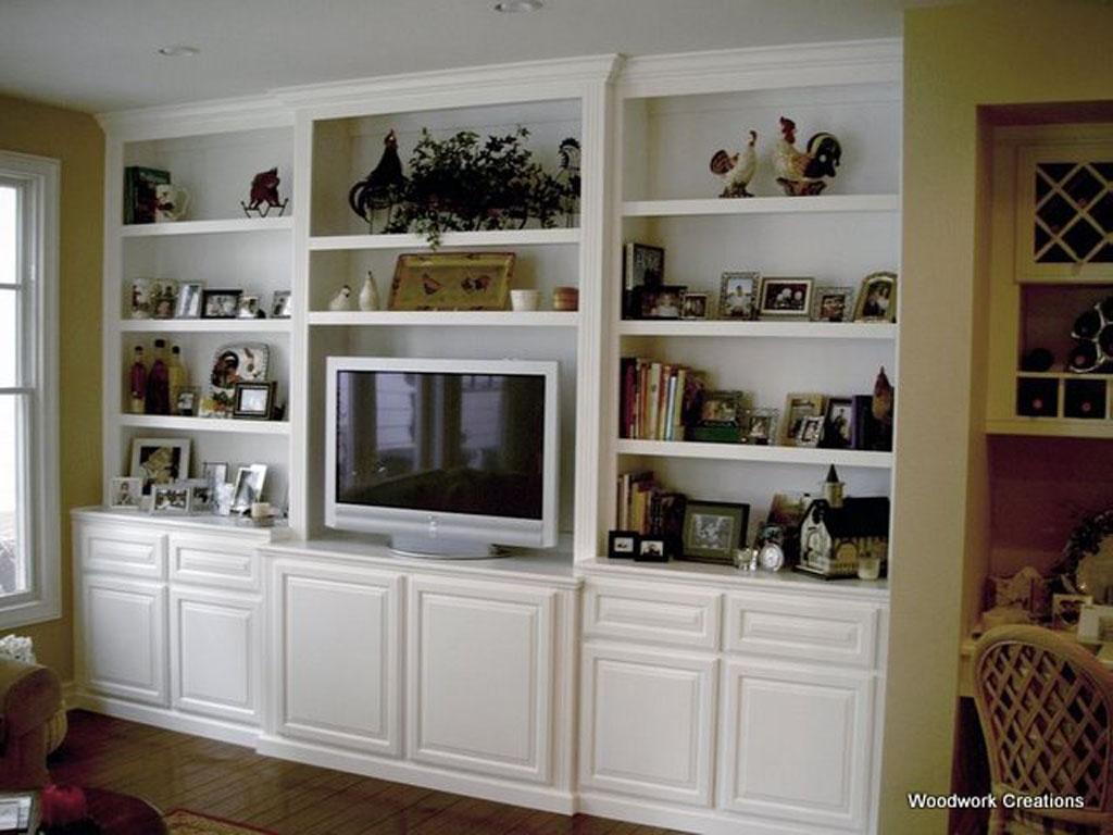 Custom built in wall unit in white lacquer | C & L Design ...