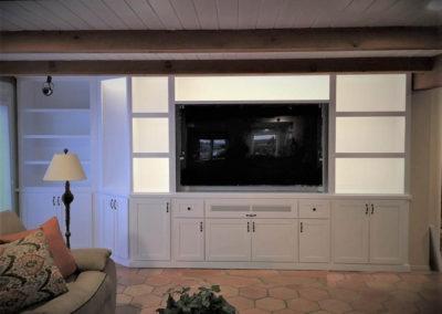 White custom cabinets in Oceansite