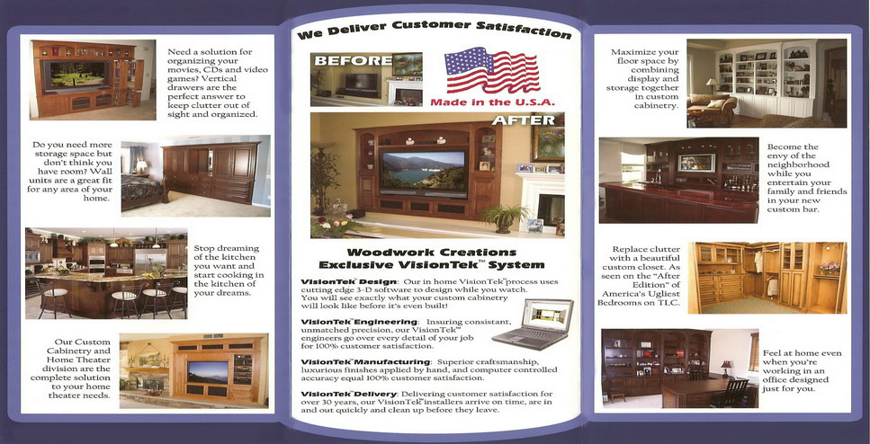 Woodwork Creations Custom Cabinetry Flyer C Amp L Design