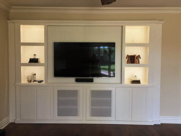 After cabinet magic - A beautiful built in entertainment center