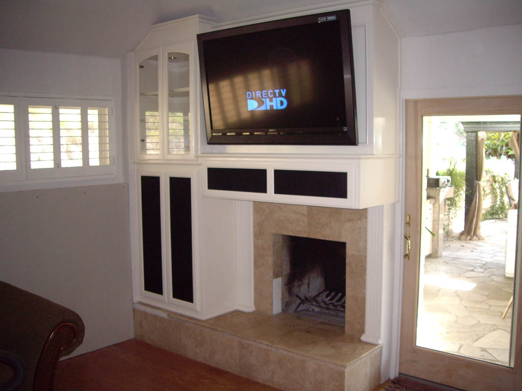 After Custom Cabinets Built Around Fireplace C Amp L