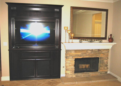 After - custom entertainment center cabinet