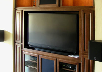 After - a beautiful built in wall unit
