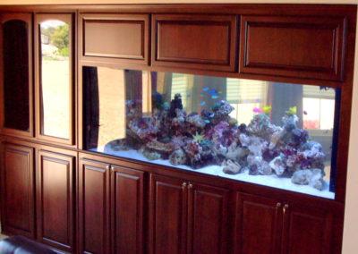 After - custom aquarium cabinet