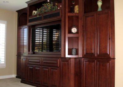 After - cabinets built into wall niches