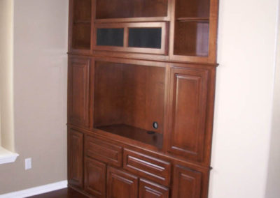 After - custom wall unit cabinets