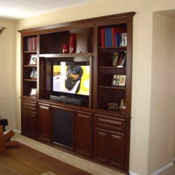 Temecula entertainment center in alcove - This is our fourth project for them