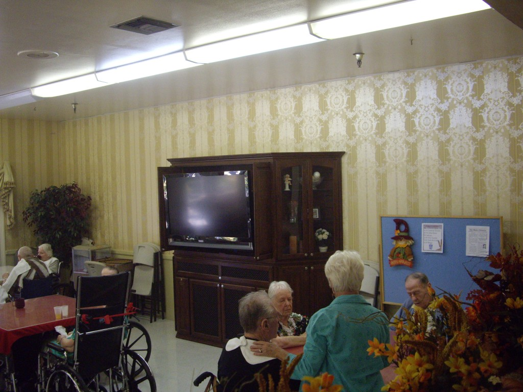 Residents Meal area entertainment center