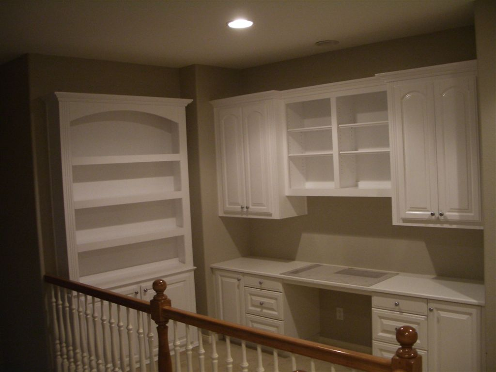 home office built in. Home Office Built In. White Bookshelves With In Desk Cabinets D