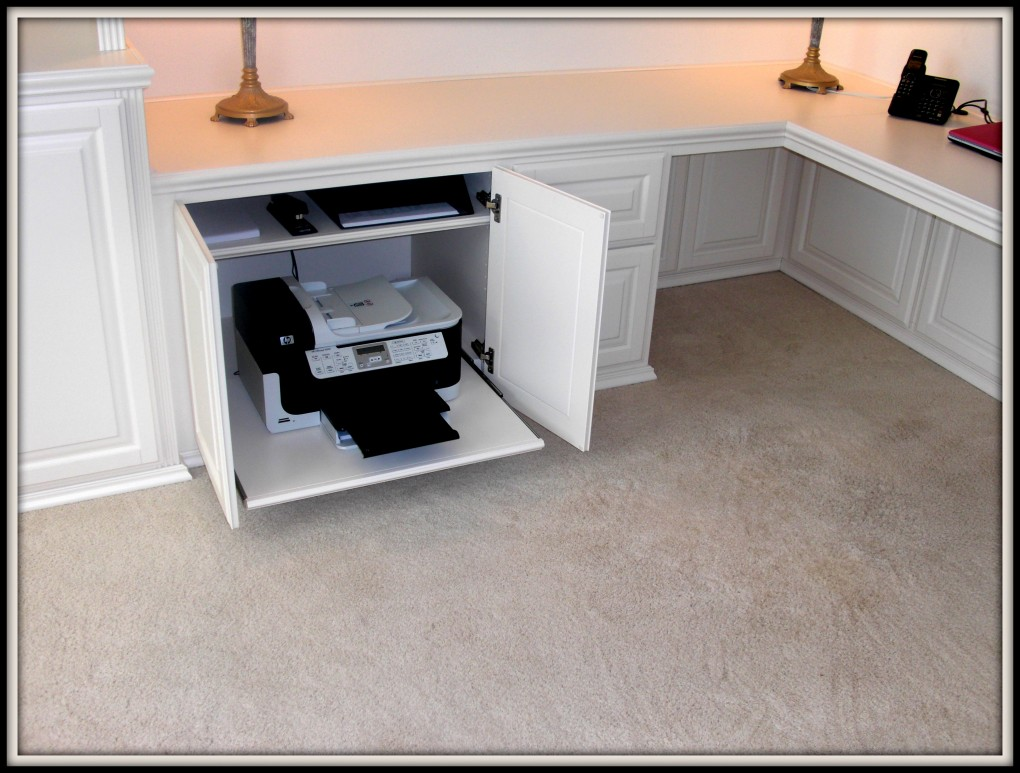 Hidden Printer Cabinet Get Your Printer Off The Desk C L Design Specialists Inc