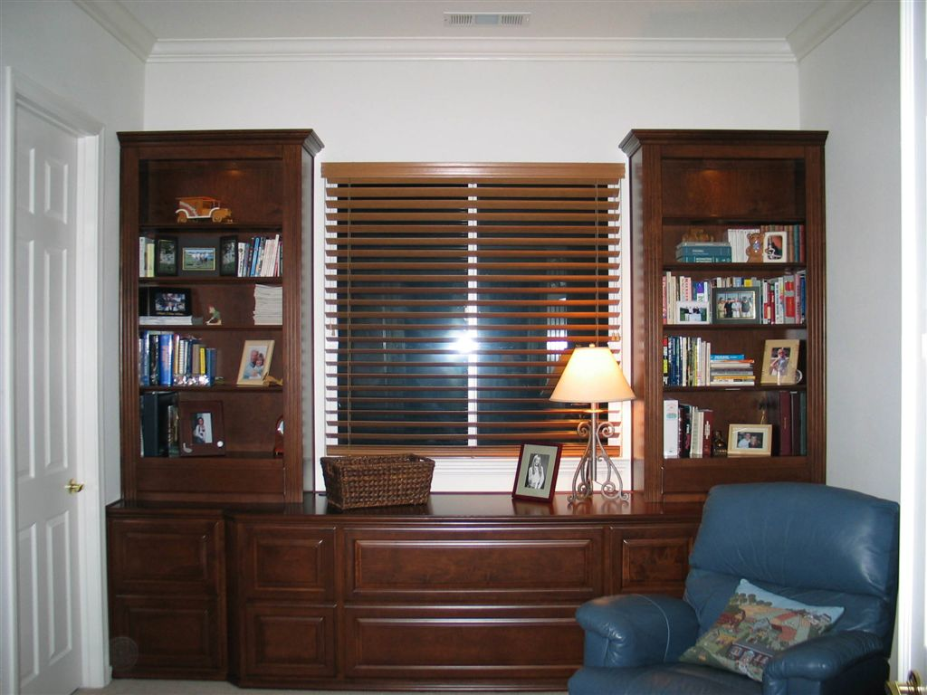 Built In Bookshelves Installed To Accommodate Windows C L Design