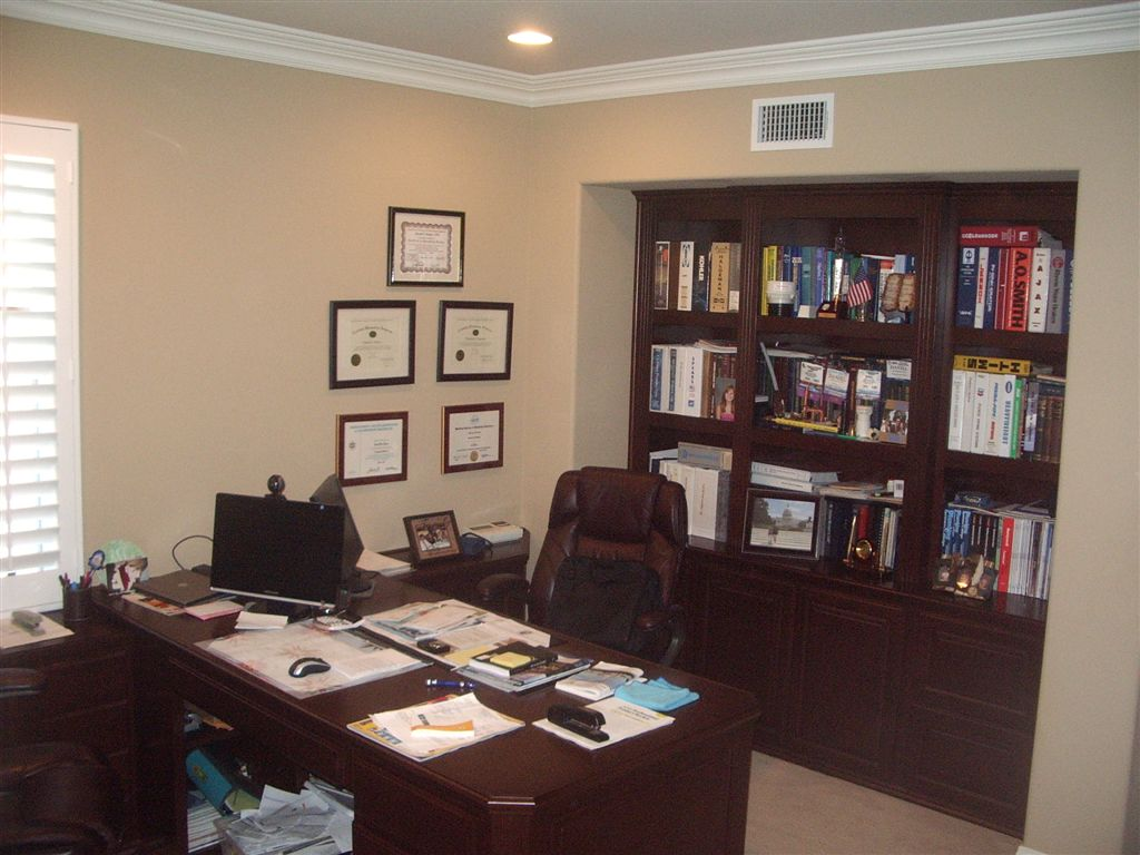 Wonderful custom home office c l design specialists inc for Custom home library design