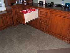 Full extension drawer glides on file cabinets