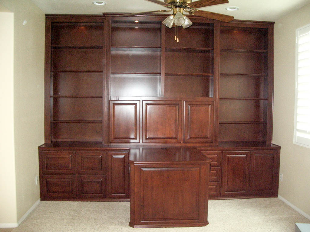Custom built home office built in custom cabinets for for Custom built cabinets