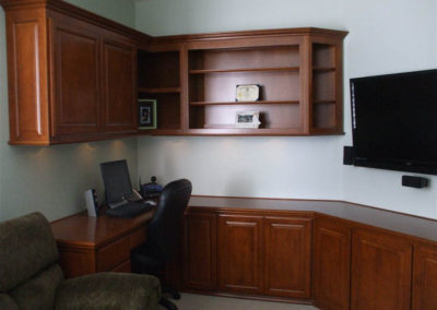 Custom cabinets in home office
