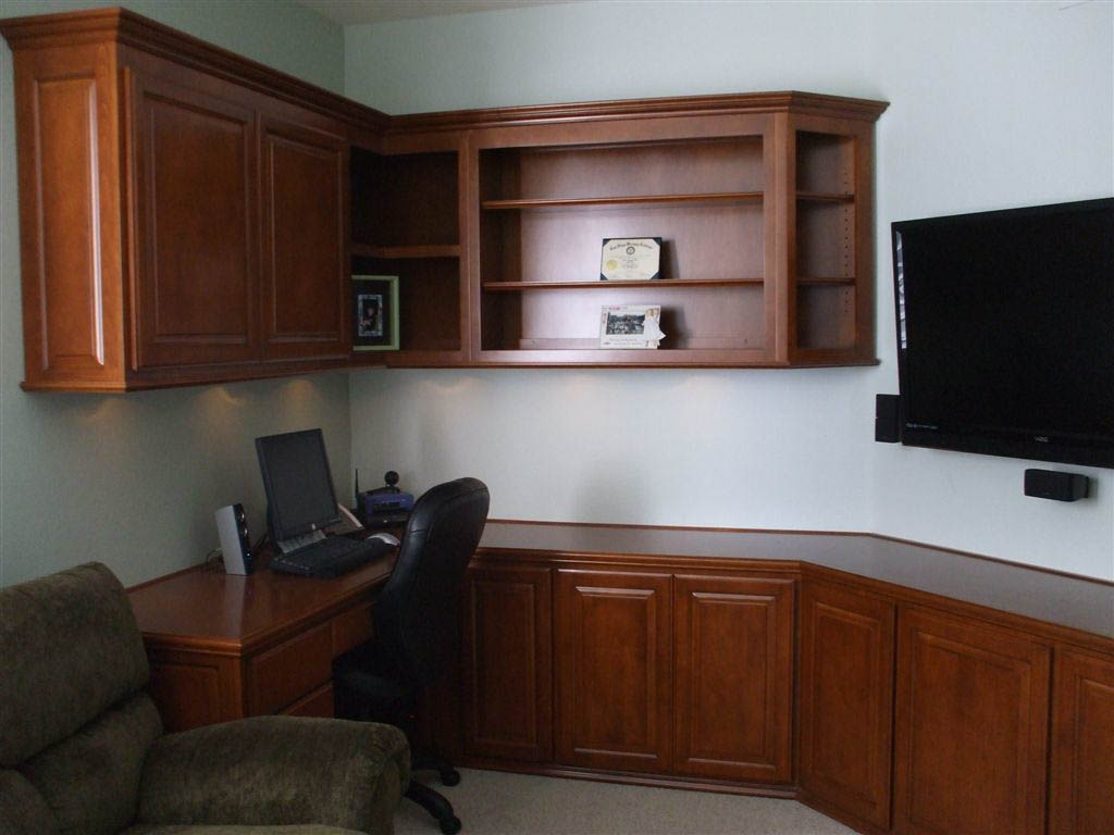 Custom Office Cabinetry Design ~ Custom home office cabinets in southern california
