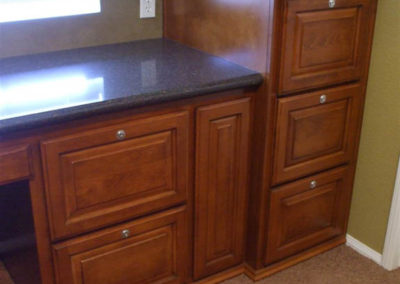 Built in desk and filing cabinets