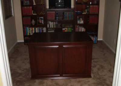Custom home office cabinets and desk
