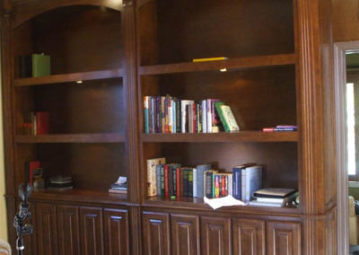 Built in book shelves