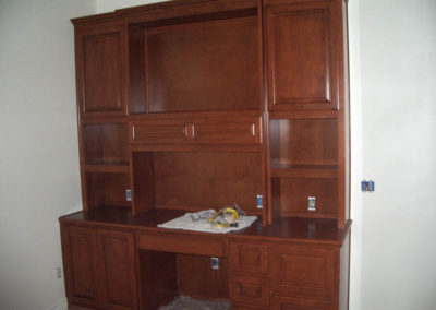 Custom cabinets and desk