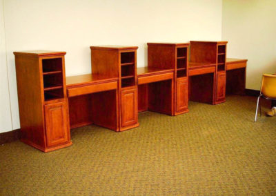 Custom desk space