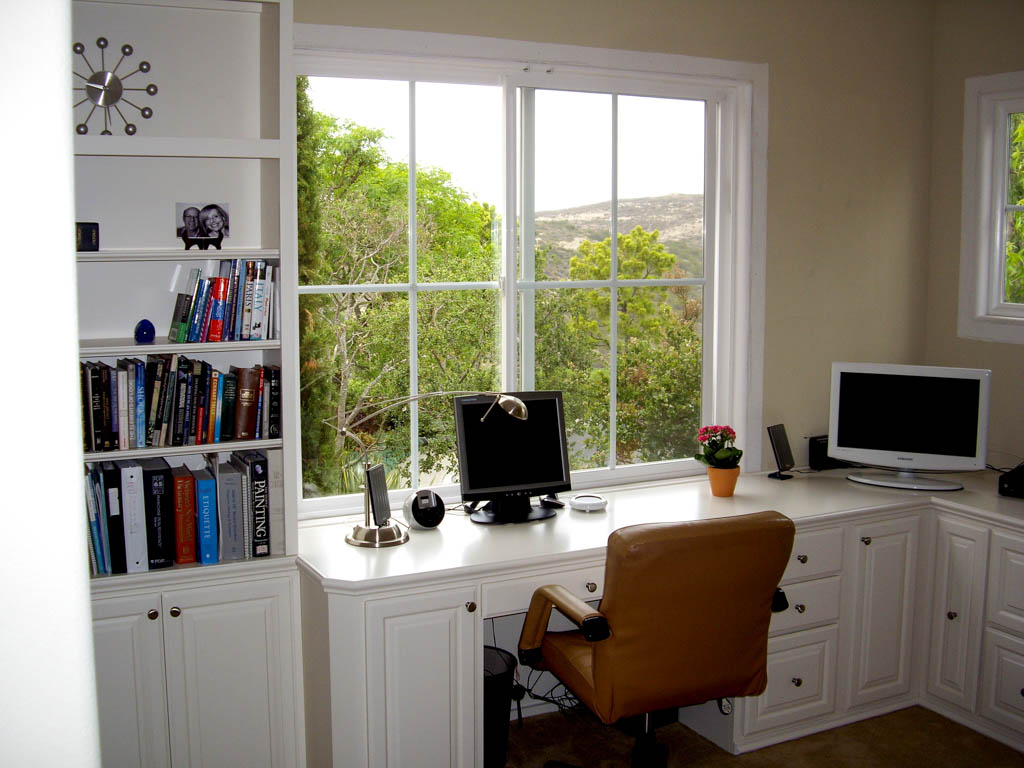 Custom home office cabinets in southern california Built in home office designs