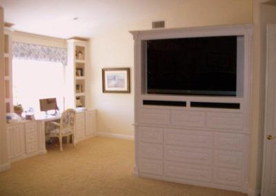 White custom cabinets Dana Point