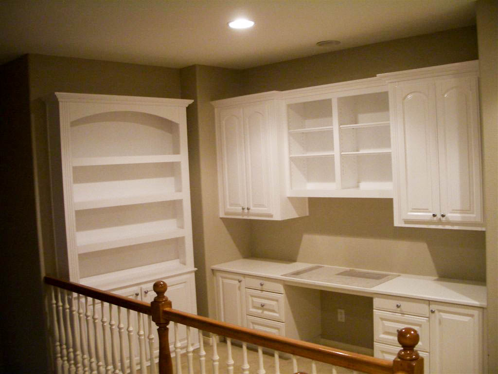 custom home office furniture. white home office cabinets custom furniture o