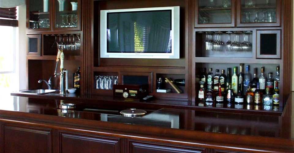 Custom home bars designs joy studio design gallery for Built in bar designs