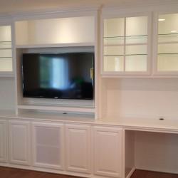 Built in custom cabinets in living room in Orange