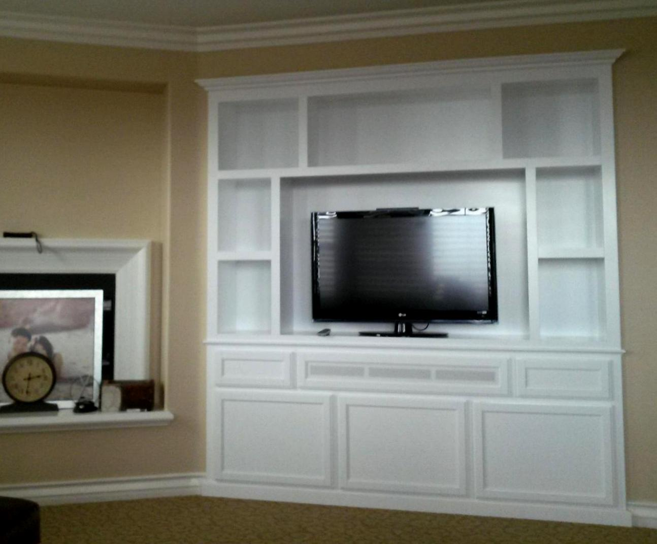 White lacquer wall unit in Rancho Cucamonga