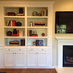 Backless custom cabinets