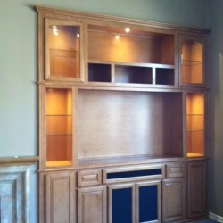 After custom entertainment center installated