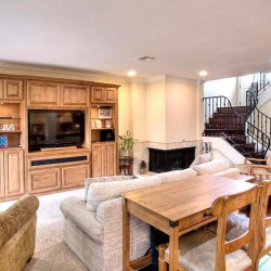 Built in entertainment center brings entire room together