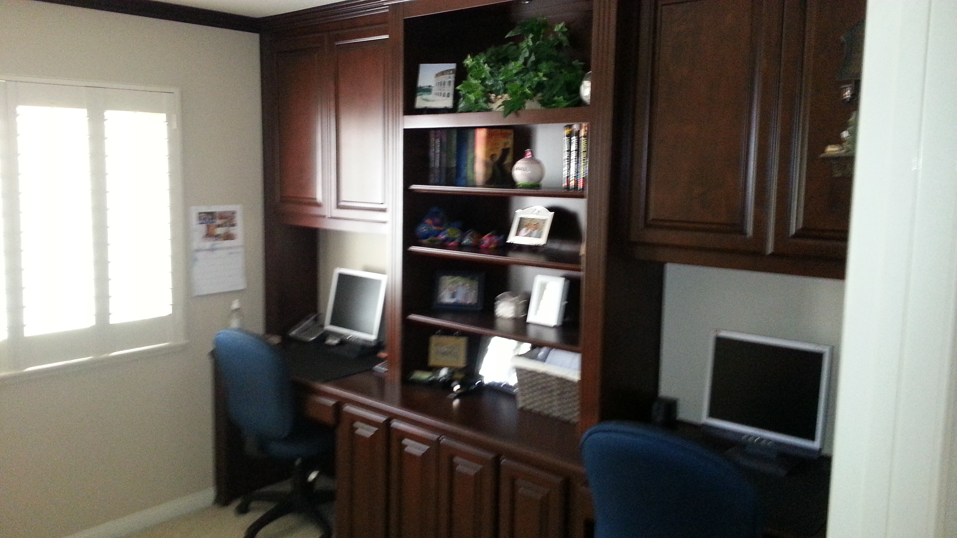 Built In Home Office With Dual Work Stations
