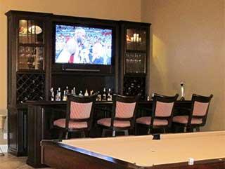 Custom Home Bar Cabinets
