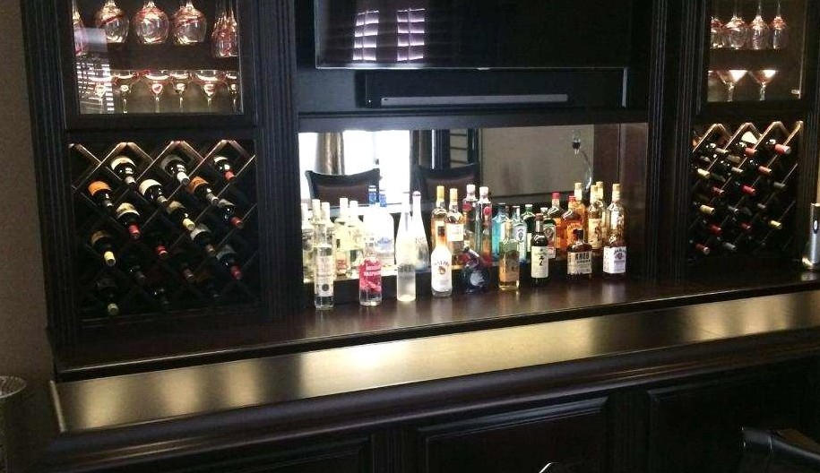 Custom home bars are huge in 2016