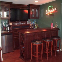 Irish Pub In Yorba Linda California Loft. Wine Storage On Bar Side