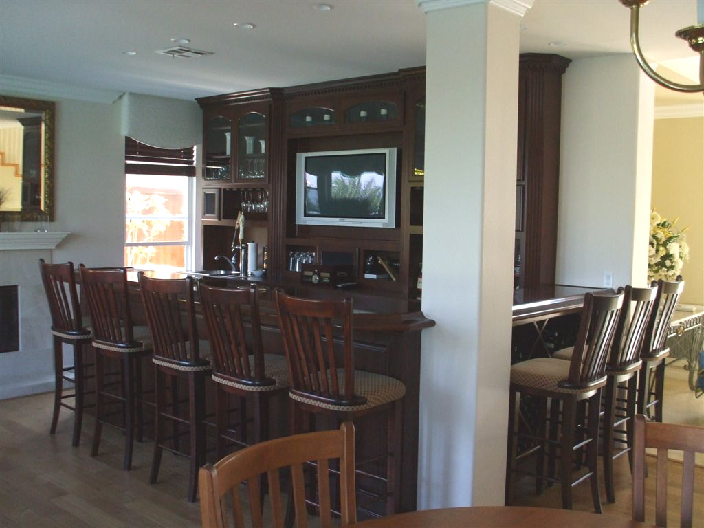 This Family Room Bar Built In Temecula California Adds A Four Star  Steakhouse Atmosphere.