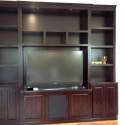 Entertainment wall unit in Irvine
