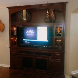 Entertainment center built in cabinet in Trabuco Canyon