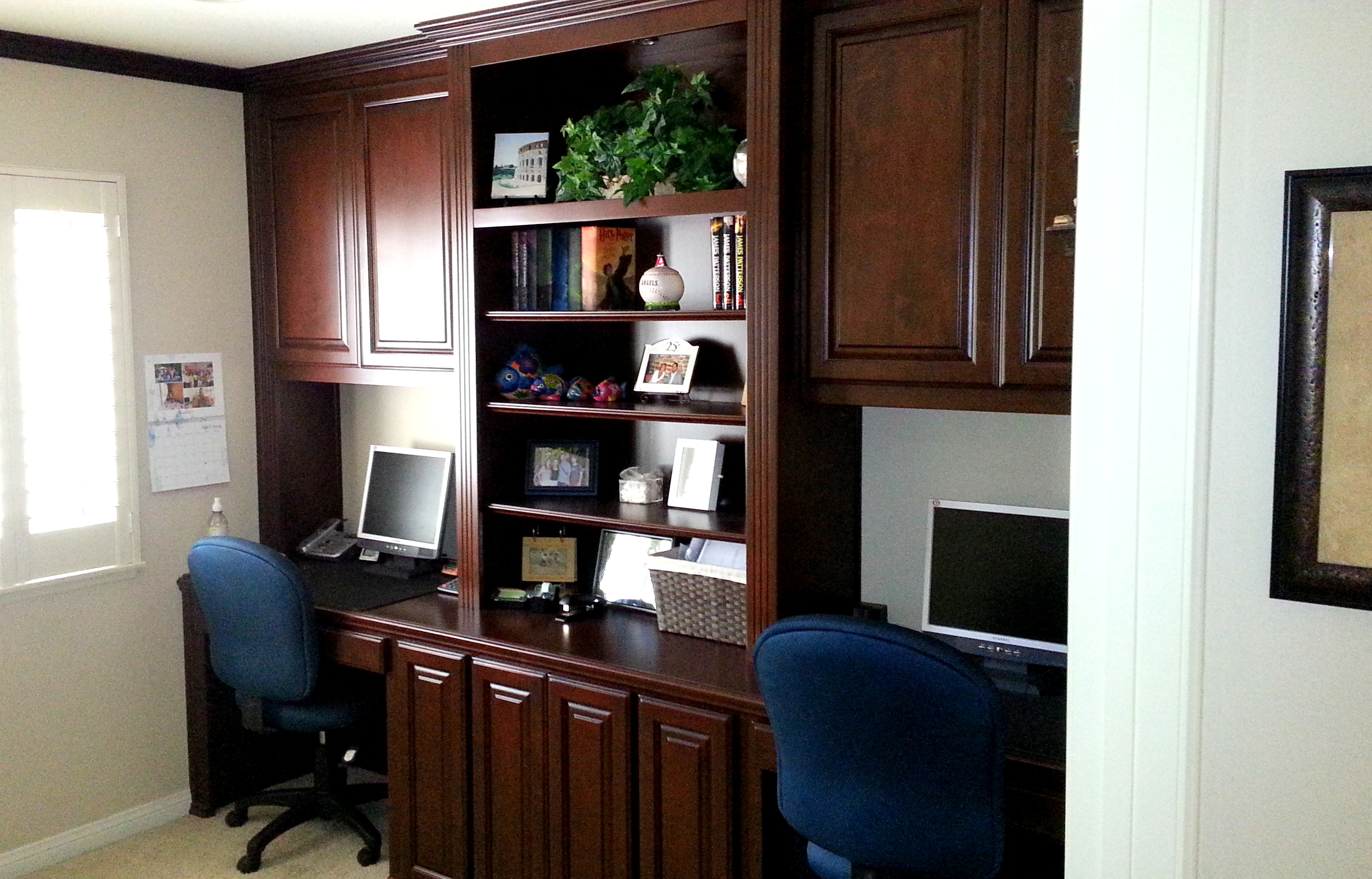 His And Hers Office In Yorba Linda C L Design Specialists Inc