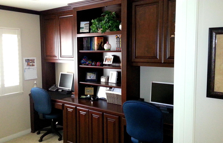 Custom Home Office Cabinets In Yorba Linda C L Design