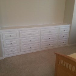 Bedroom alcove still have that dresser from Levitz? How bout a custom built it. Maximize space and add home value!