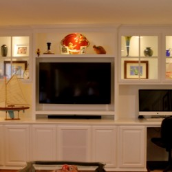 Built in tv stand for your Orange county home