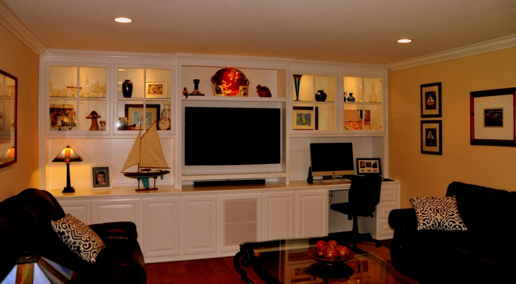 Combination Entertainment Center, Display Unit And Work Center
