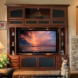 Custom built in wall unit cabinets and entertainment centers