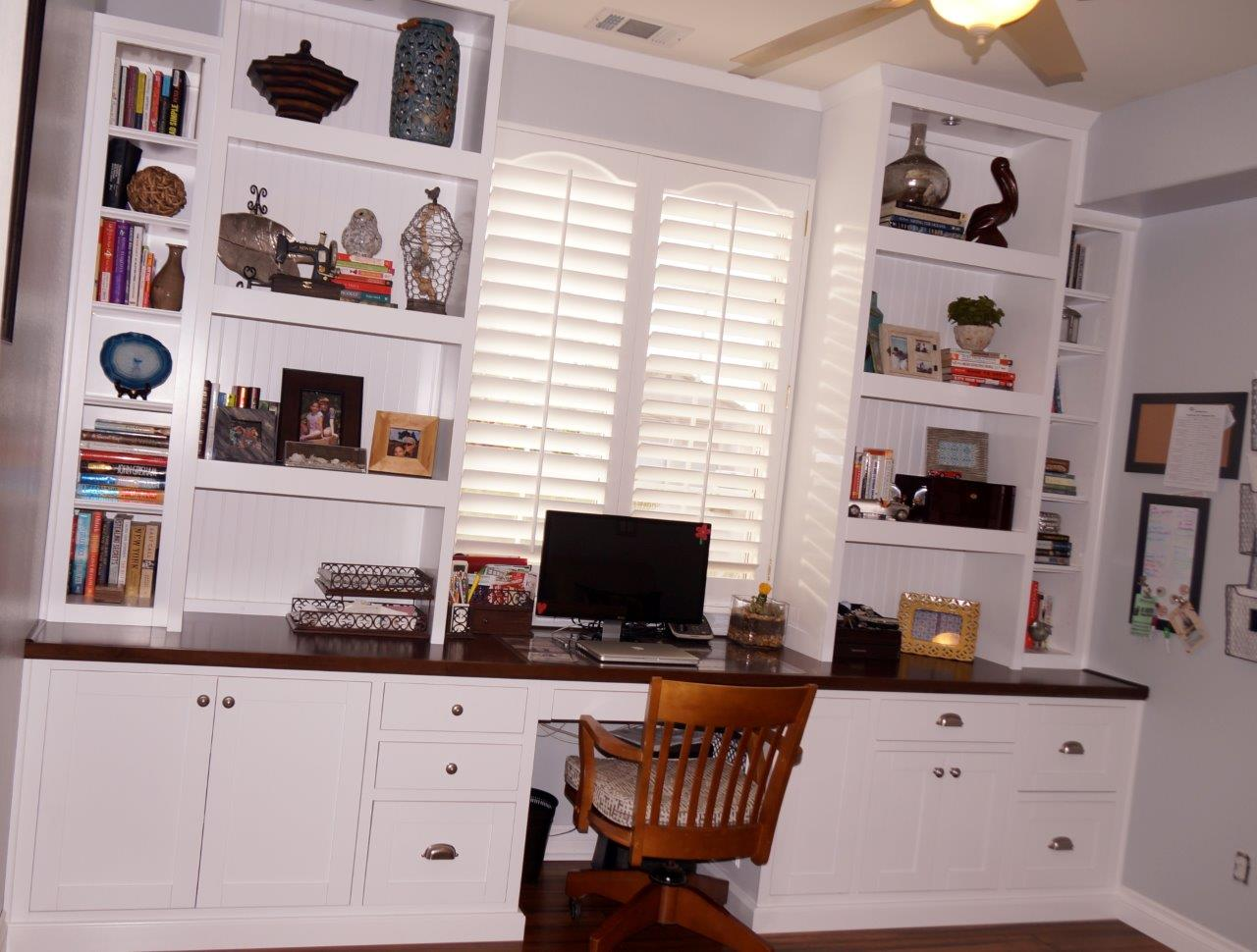 custom home office cabinets and built in desk cabinets